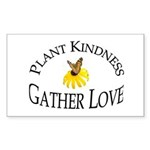 Plant Kindness Gather Love Rectangle Sticker