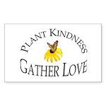 Plant Kindness Gather Love Rectangle Sticker