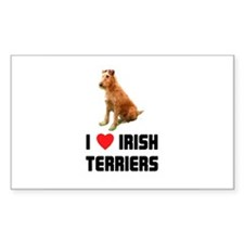 I Love Irish Terriers Rectangle Decal