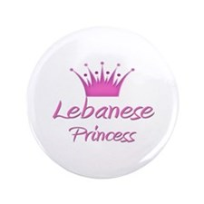 "Lebanese Princess 3.5"" Button"
