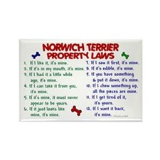 Norwich Terrier Property Laws 2 Rectangle Magnet (