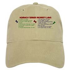 Norwich Terrier Property Laws 2 Baseball Cap