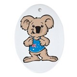 Cool Koala Oval Ornament