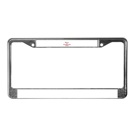 Cardinals Fan License Plate Frame