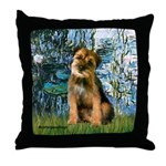 Lilies 1 / Border T Throw Pillow