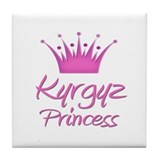 Kyrgyz Princess Tile Coaster
