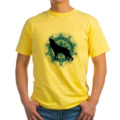 Wolf Silhouette Yellow T-Shirt