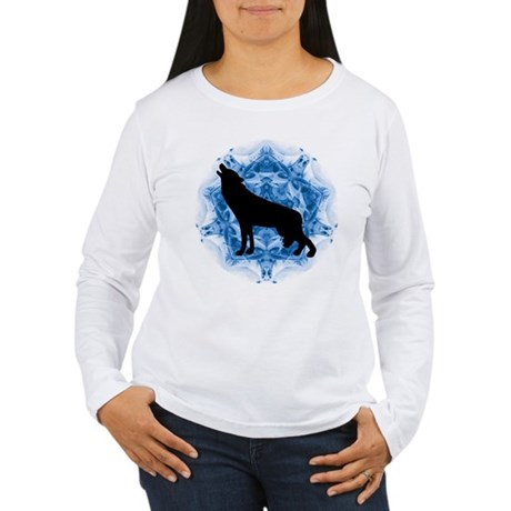 Wolf Silhouette Women's Long Sleeve T-Shirt