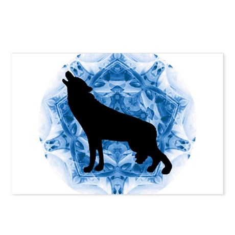 Wolf Silhouette Postcards (Package of 8)