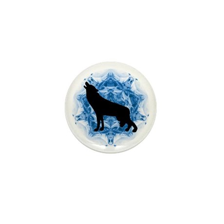 Wolf Silhouette Mini Button (10 pack)