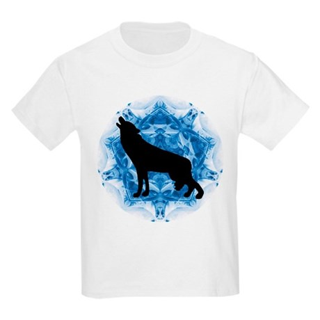 Wolf Silhouette Kids Light T-Shirt