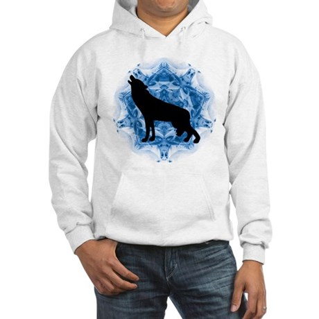 Wolf Silhouette Hooded Sweatshirt