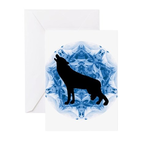 Wolf Silhouette Greeting Cards (Pk of 20)