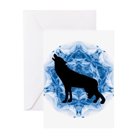 Wolf Silhouette Greeting Card