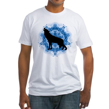 Wolf Silhouette Fitted T-Shirt
