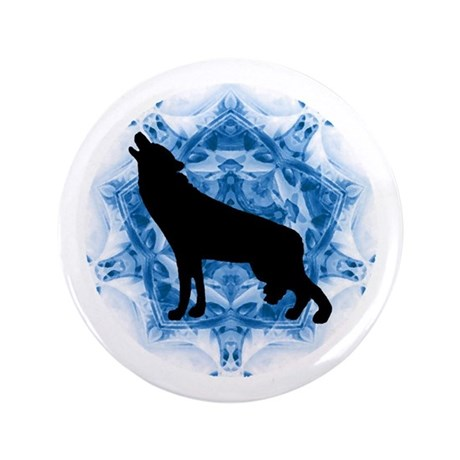 "Wolf Silhouette 3.5"" Button"