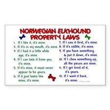 Norwegian Elkhound Property Laws 2 Decal