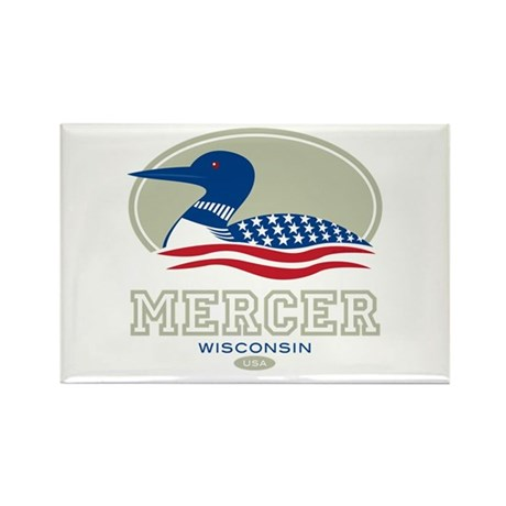 Loon Day Mercer Rectangle Magnet (100 pack)