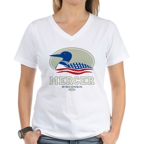 Loon Day Mercer Women's V-Neck T-Shirt