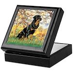 Spring / Rottweiler Keepsake Box