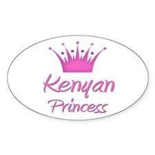 Kenyan Princess Oval Decal