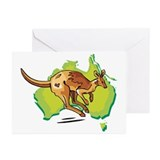 Australian Kangaroo Greeting Cards (Pk of 10)