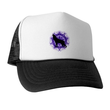 Purple Howling Wolf Trucker Hat