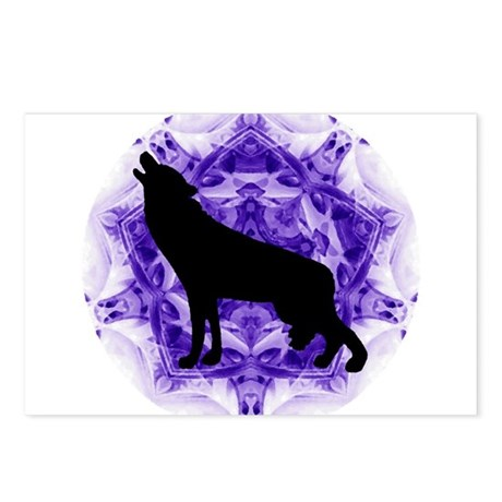 Purple Howling Wolf Postcards (Package of 8)