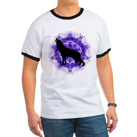 Purple Howling Wolf Ringer T