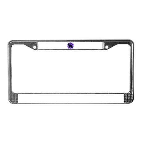 Purple Howling Wolf License Plate Frame