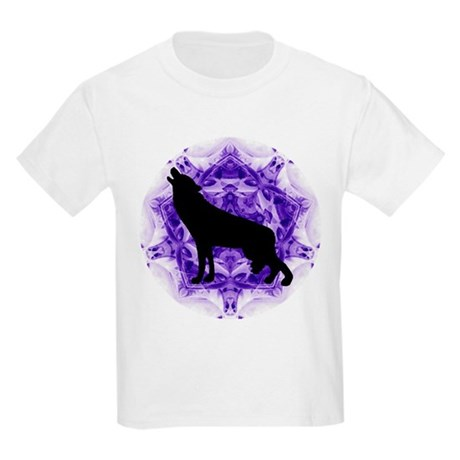 Purple Howling Wolf Kids Light T-Shirt