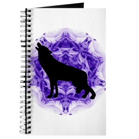 Purple Howling Wolf Journal
