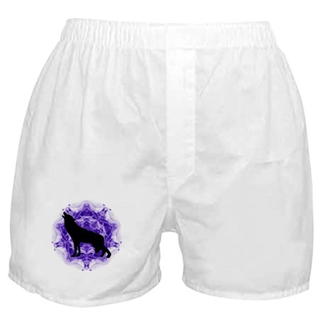 Purple Howling Wolf Boxer Shorts