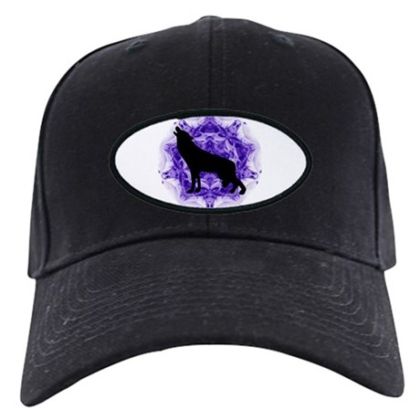Purple Howling Wolf Black Cap