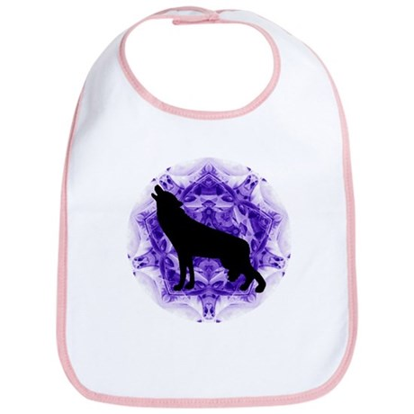 Purple Howling Wolf Bib