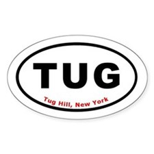 Tug Hill New York TUG Euro Ov Oval Decal