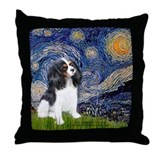 Starry Night / Cavalier Throw Pillow