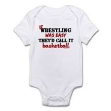 IF WRESTLING WAS EASY...baske Onesie