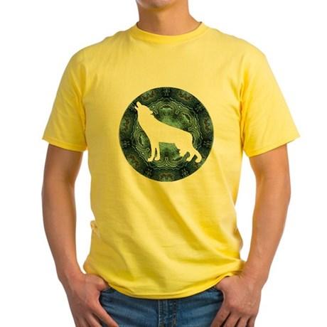 White Wolf Yellow T-Shirt