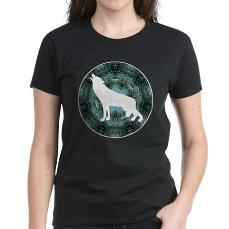 White Wolf Women's Dark T-Shirt