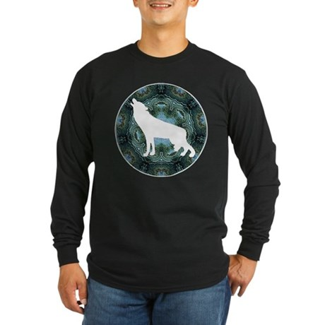 White Wolf Long Sleeve Dark T-Shirt