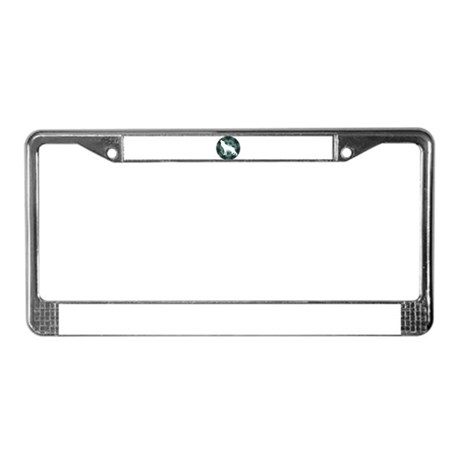 White Wolf License Plate Frame