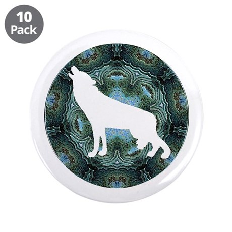 "White Wolf 3.5"" Button (10 pack)"