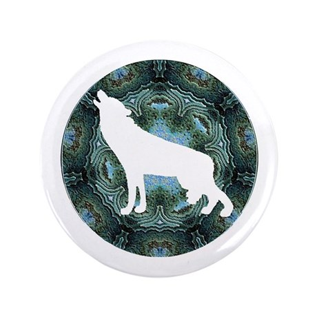 "White Wolf 3.5"" Button"