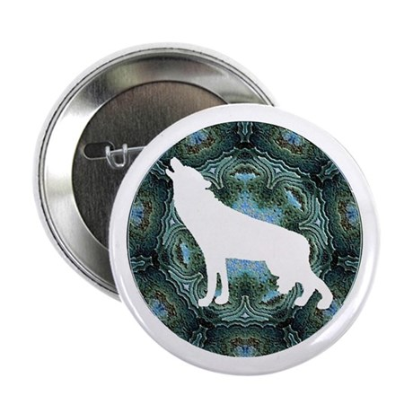 "White Wolf 2.25"" Button"