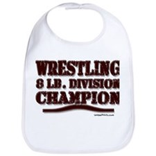 WRESTLING 8 LB. CHAMPION Bib