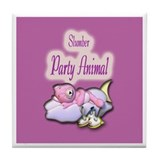 Slumber Party Animal Gifts Tile Coaster