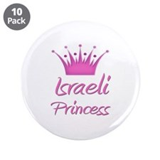 "Israeli Princess 3.5"" Button (10 pack)"