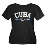 Cuba 1902 Women's Plus Size Scoop Neck Dark T-Shir