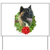 Akita Wreath Yard Sign